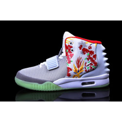 Nike Yeezy 2 белый в цветы